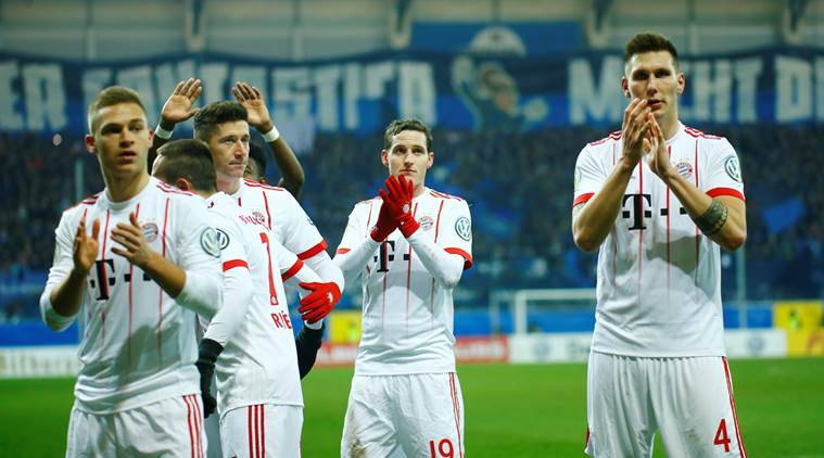 Bayern Munich put six past Paderborn to reach DFB-Pokal semi-finals