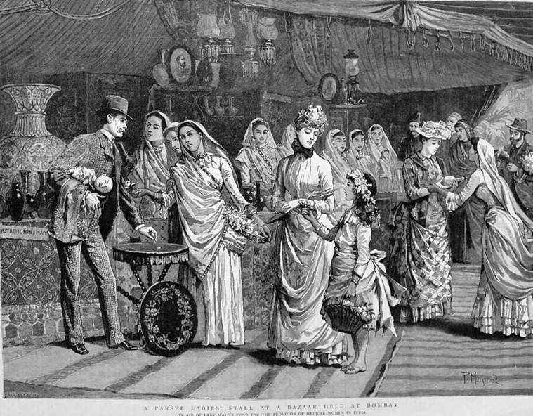 parsee ladies and english women in 1889