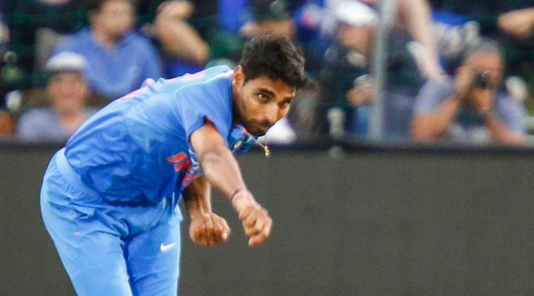 Bhuvneshwar Kumar in action against South Africa in 1st T20
