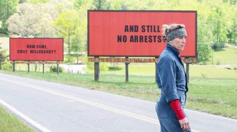 A still from Three Billboards Outside Ebbing, Missouri