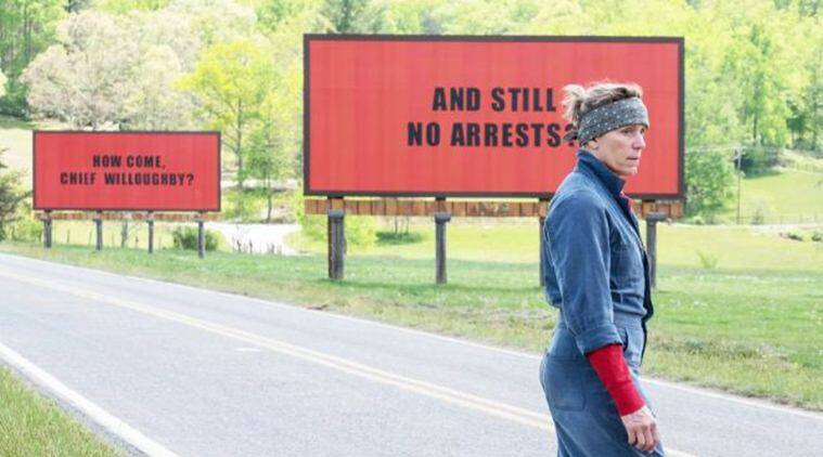 A still from Three Billboards Outside Ebbing, Missouri