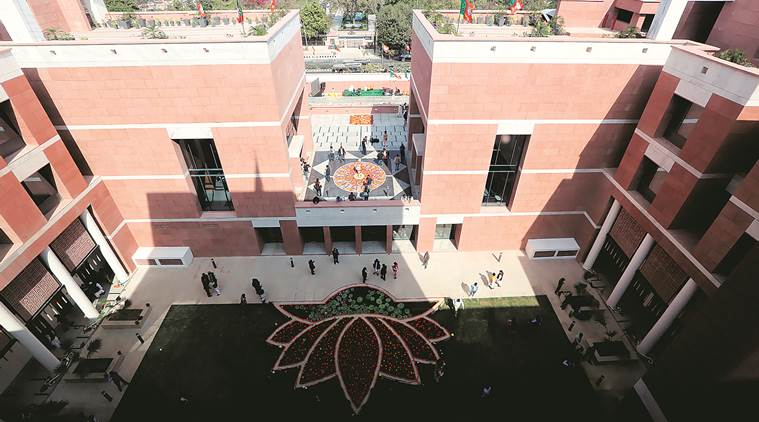 The BJP's new headquarters  at Deen Dayal Upadhyay Marg in New Delhi on Sunday. Prem Nath Pandey