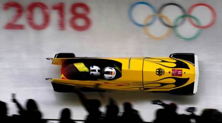 Winter Olympics 2018: Germany dominate opening bobsleigh heats with Canada close on heels