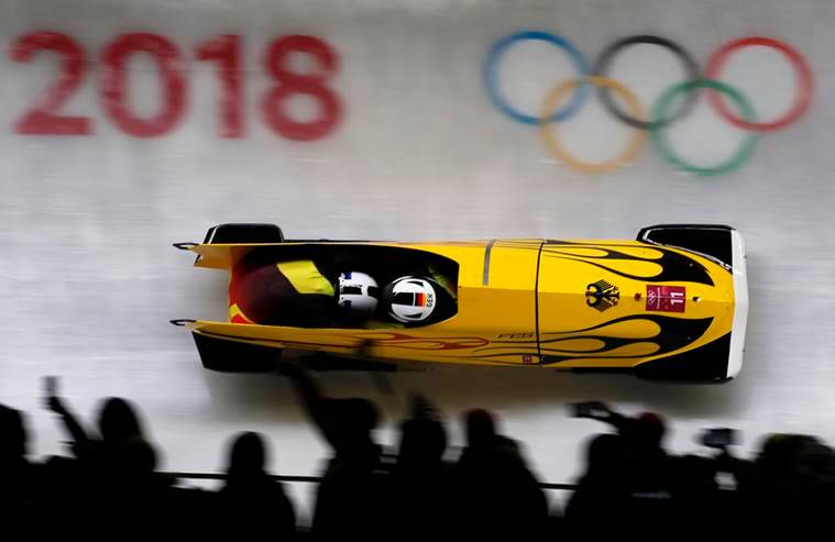 Canadians place second in first heat of two-man bobsleigh