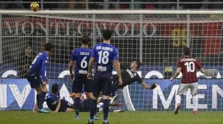 Hakan Calhanoglu misses easy chance as Milan draws againstLazio