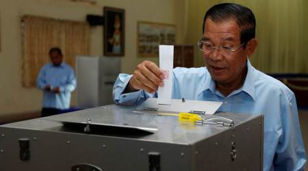 Cambodia votes in Senate election, PM Hun Sen's party expected to win