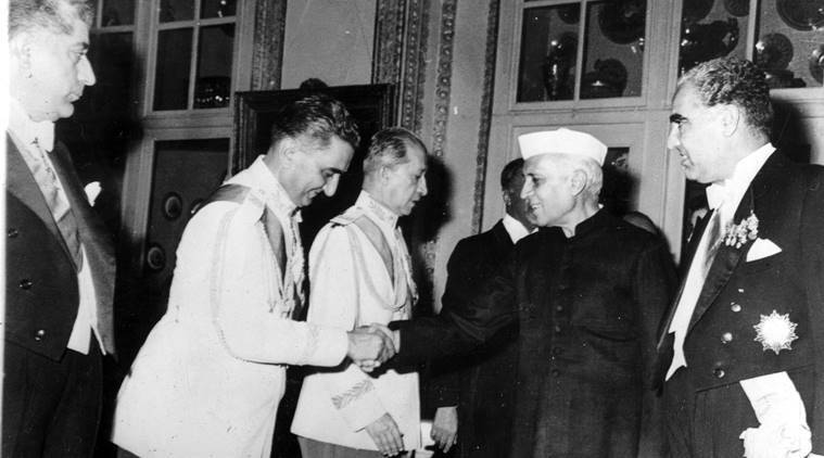 nehru welcomed in iran