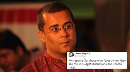 Chetan Bhagat tweets disclaimer for being an economics expert on Budget discussionpanels