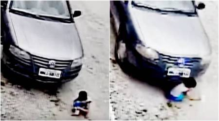 WATCH: Child run over by car miraculously stands up unharmed