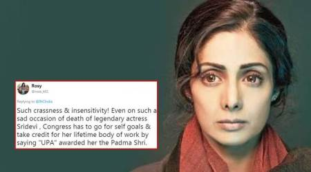 Congress removes Sridevi condolence tweet after Twitter backlash