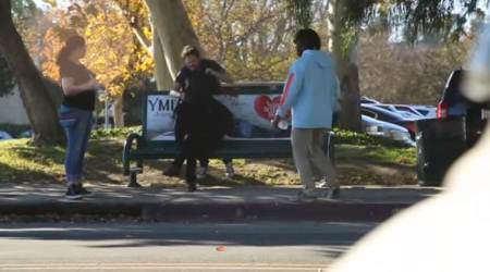 VIDEO: In a prank, man pretends to fight with partner and rip her head off