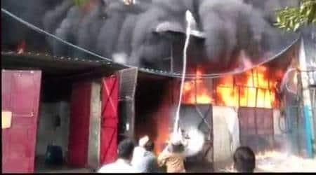 Delhi: Fire breaks out at Mangolpuri shoe factory, fifteen fire tenders rushed