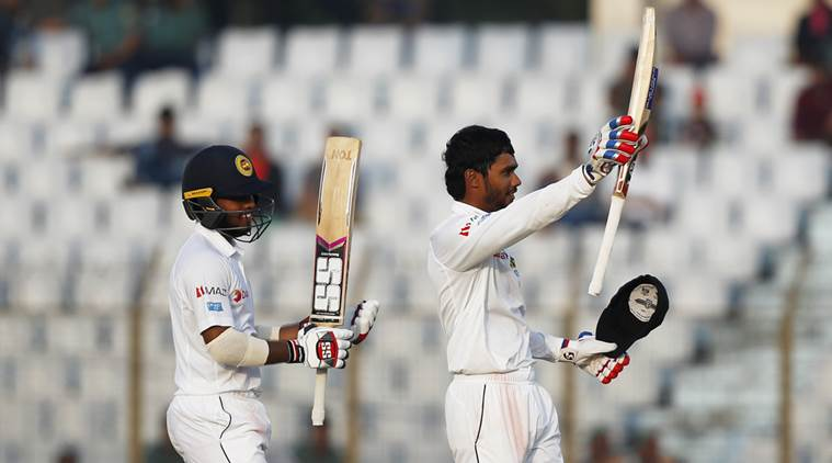 De Silva hits ton in strong Sri Lanka reply