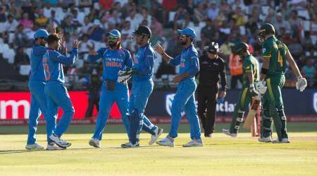 MS Dhoni, MS Dhoni India, India MS Dhoni, MS Dhoni dismissals, India vs South Africa, India tour of South Africa, sports news, cricket, Indian Express