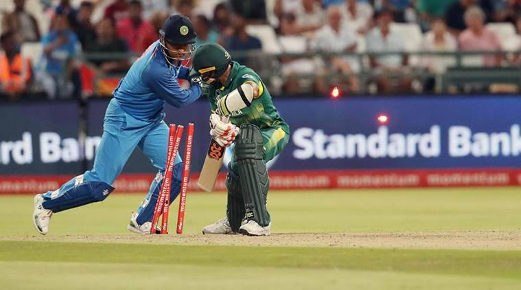 MS Dhoni, MS Dhoni India, MS Dhoni dismissals, India vs South Africa, india tour of South Africa, sports news, cricket, Indian Express