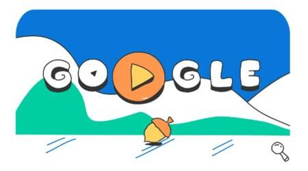 Google Doodle celebrates Day 15 of Winter Olympic Games 2018 with illustration ft. ducks in Bobsleigh event