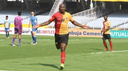 Dudu Omagbemi at 'four' ground as East Bengal crush Chennai 7-1
