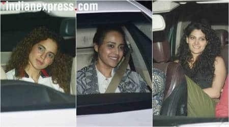 padman screening, kangana ranaut, swara bhasker, r balki