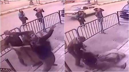 VIDEO: Cop saves child falling from third floor in Egypt