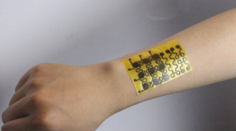 Electronic skin, wearable technology, unioversity fo Colorado boulder, prosthetics, polyimine, robotics, excessive stretches, pressure, temperature, bioogical skin, air flow