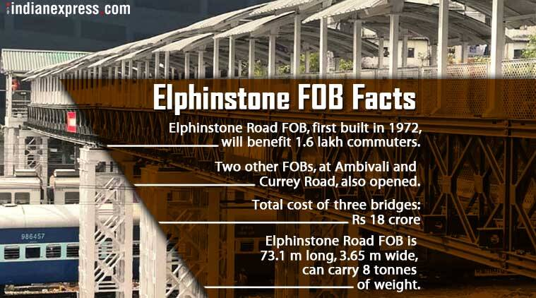 New Elphinstone Station bridge constructed by Army inaugurated today