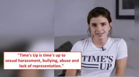 time's up, bafta awards, emma watson, time's up in UK, celebrities in black at bafta, #time'sUp, indian express, indian express news