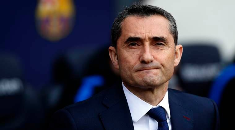 Ernesto Valverde 'delighted' as Barca match club-record unbeaten run class=