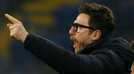 Roma coach Eusebio Di Francesco fumes at second-half collapse