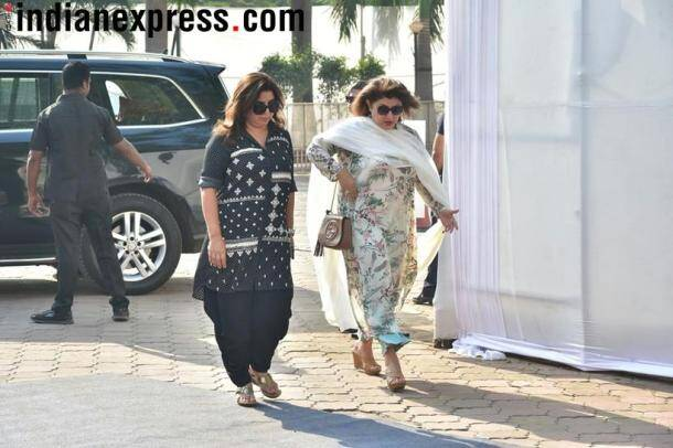 farah khan at sridevi condolence meet