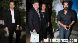 Karan Johar, Rana Daggubati and Rishi Kapoor attend Manmohan Shetty's birthday bash