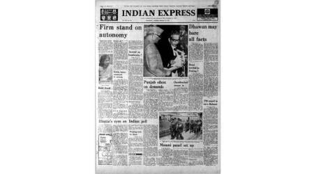 janata govt, feb 23 1978, forty years ago, kissa kursi ka case, sanjay gandhi, minoo masani, minorities commission, old rare indian express newspapers, indian express