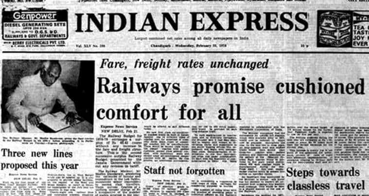indian railways, rail budget, indian railways history, Railway Minister Madhu Dandavate, Madhu Dandavate, indian express editorial, editorial page,
