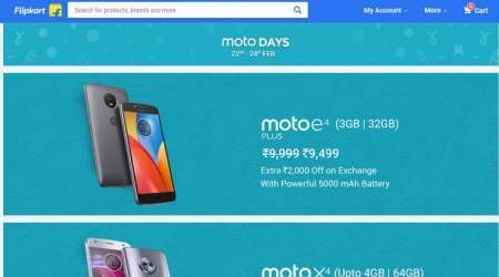 Moto Days sale on Flipkart: Moto E4 Plus, Moto X4, Moto Z2 Play get discounts