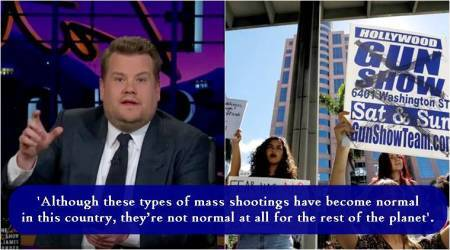 VIDEO: James Corden's monologue has some powerful questions about US gun control