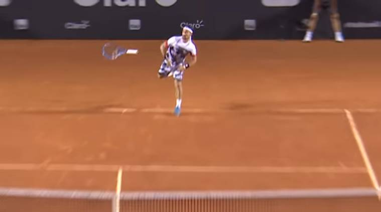 Fabio Loses Racquet, Wins Point!