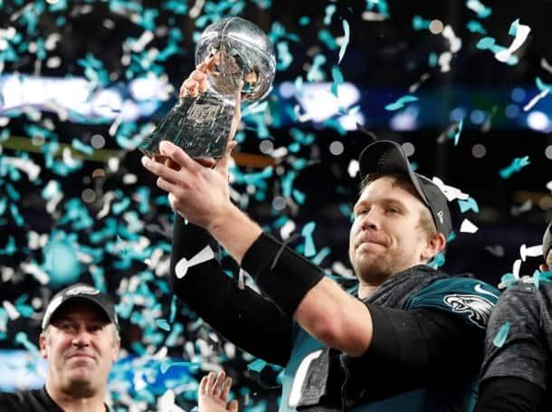 Philadelphia Eagles' Nick Foles after the Super Bowl