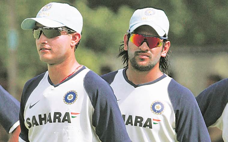 Image result for sourav ganguly with dhoni