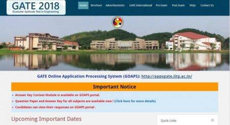 GATE 2018 scorecard released at gate.iitg.ac.in