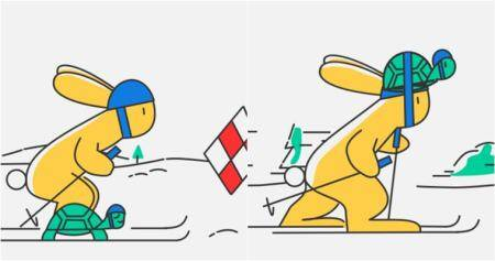 Google Doodle reimagines the Hare and Tortorise story on Day 10 of Winter Olympic Games 2018
