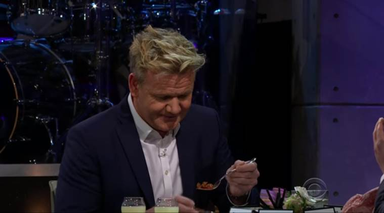 James Corden forces Gordon Ramsay to eat penis