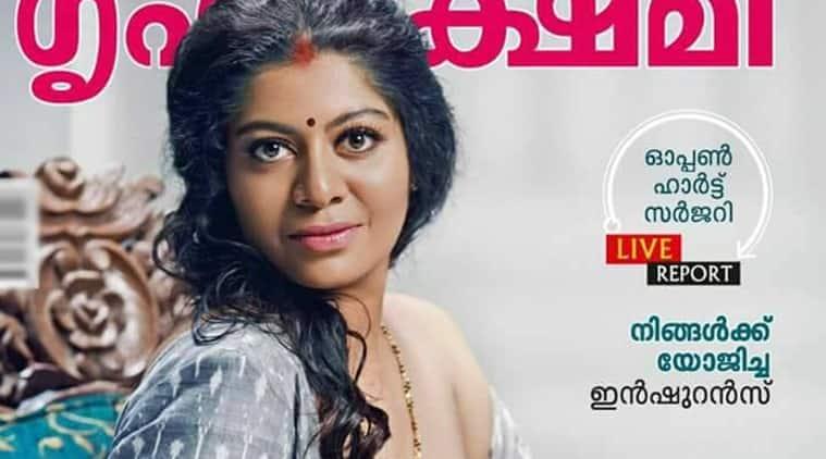 Gilu Joseph, Breastfeeding on Magazine cover, Malayalam model breastfeeding on magazine cover, Mathrubhumi Publications,Grihalakshmi cover, Indian Express