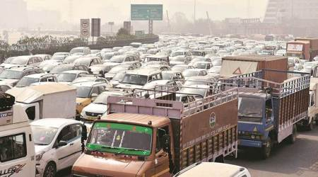 Traffic choked as Haryana farmers block entry points
