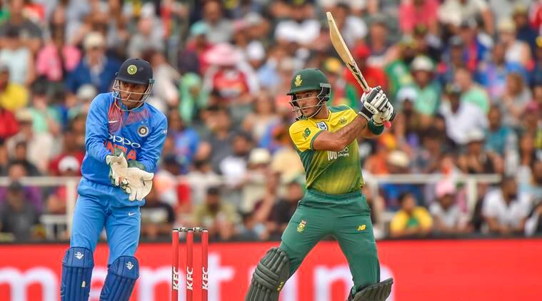 South Africa batsman Reeza Hendricks against India in first T20 in Johannesburg