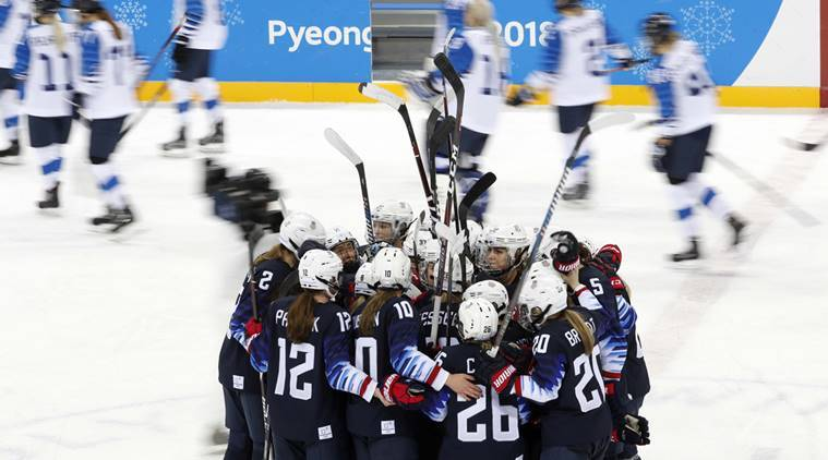Joint Korean women's hockey team plays final match