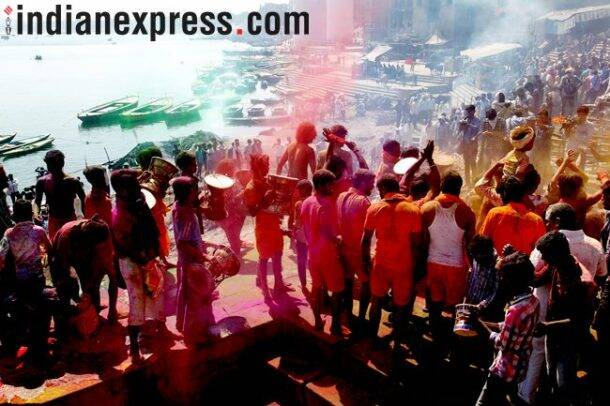 Holi Festival, Holi Celebrations, Holi Party, happy holi, happy holi 2018, holi 2018, how India celebrating Holi 2018, holi, holi photos, holi celebrations, holi in india, holi party, holi pics, holi images, indian express, indian express news