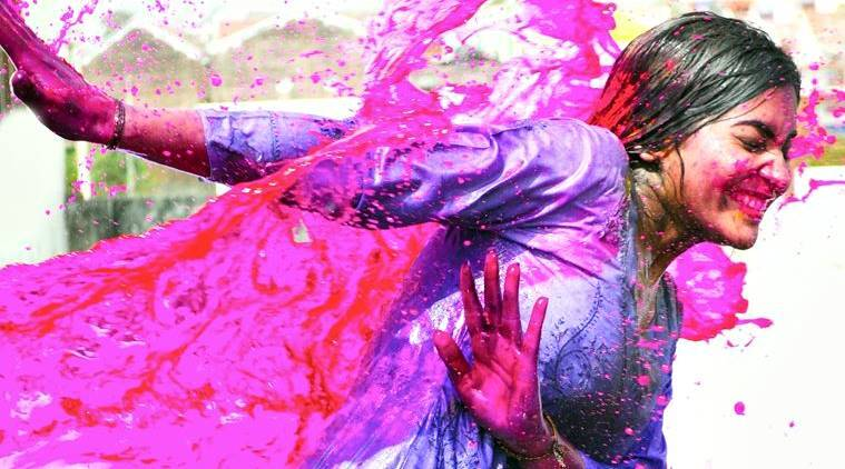 Image result for covered hair during holi