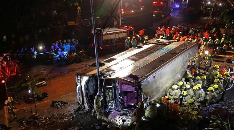 18 killed in Hong Kong bus crash