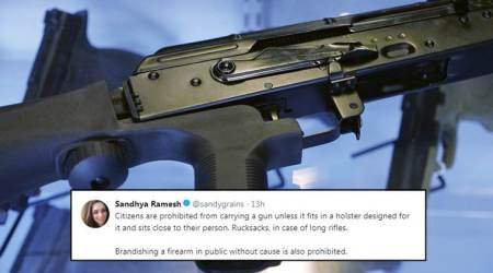 This Twitter thread explains how to get a gun in India, and THANK GOD it's not easy!