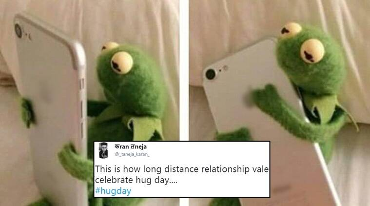 valentine's day, valentine's week, hug day, promise day, hug day funny wishes, twitter reactions, indian express, indian express news