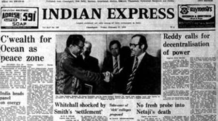 Indian Express Forty Years Ago, Express Front Page Forty Years Ago, Muhammad Ali dethroned, Muhammad Ali, Leon Spinks, Editorial News, Indian Express, Indian Express News